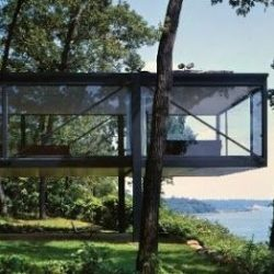 Casa em balanço estrutura metálica