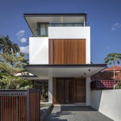 Casa moderna em estrutura metálica