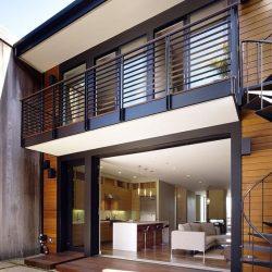 Casa simples em estrutura metálica