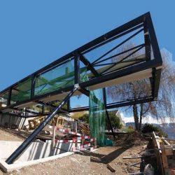 Construção residência em estrutura metálica canteiro limpo