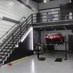 Estrutura metálica de garagem