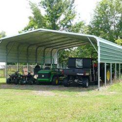 Galpão metálico com garagem para veiculos