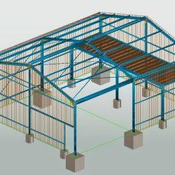 Projeto estrutural metálico 3D galpão