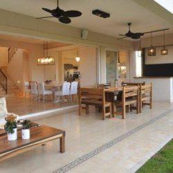 Residência espaço gourmet aberto