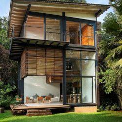 casa metalica telhado aparente