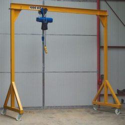 portico aço industria